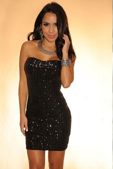 c55794794ab0d Siyah Straplez Elbise Modelleri - Bayan Portal