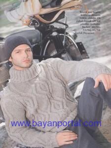 Baklavalı Erkek Kazak Modeli 2